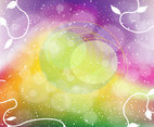 Rainbow Fantasy Vector Background