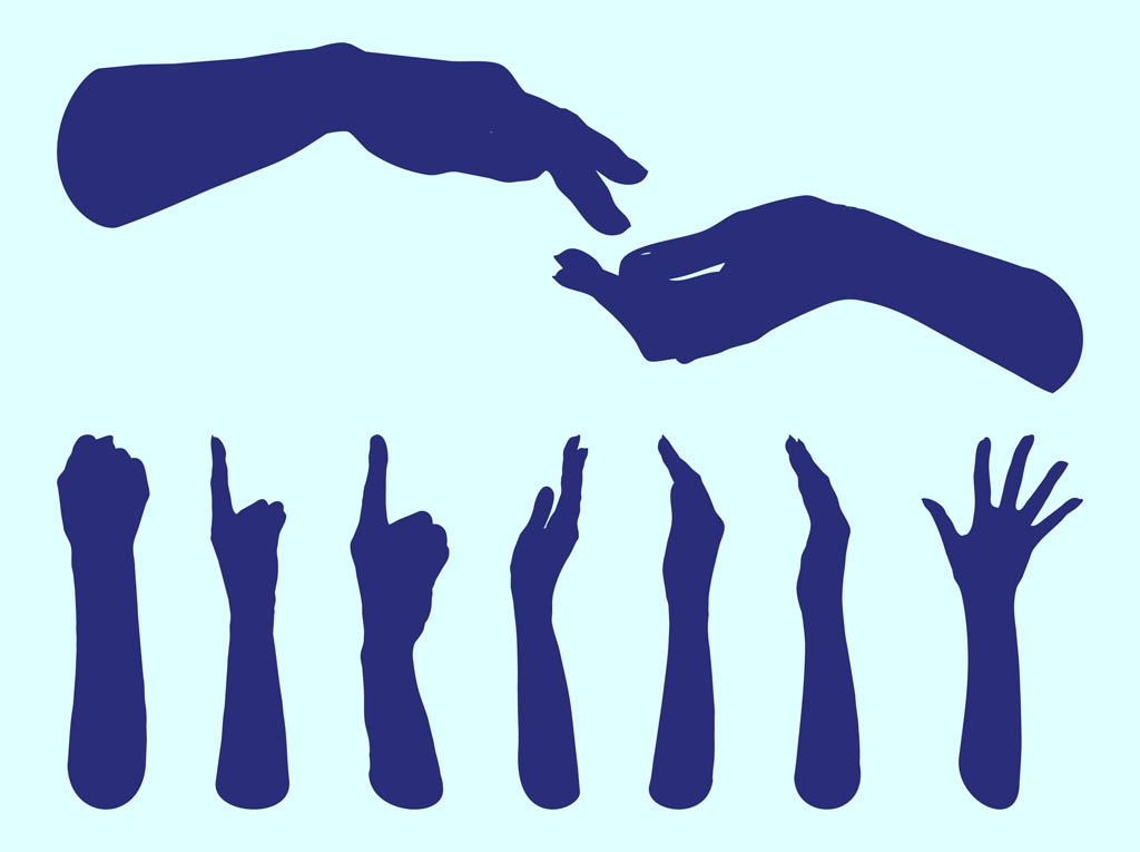 hands silhouettes graphics vector art graphics freevector com rh freevector com free vector handshake icon free vector hands shaking