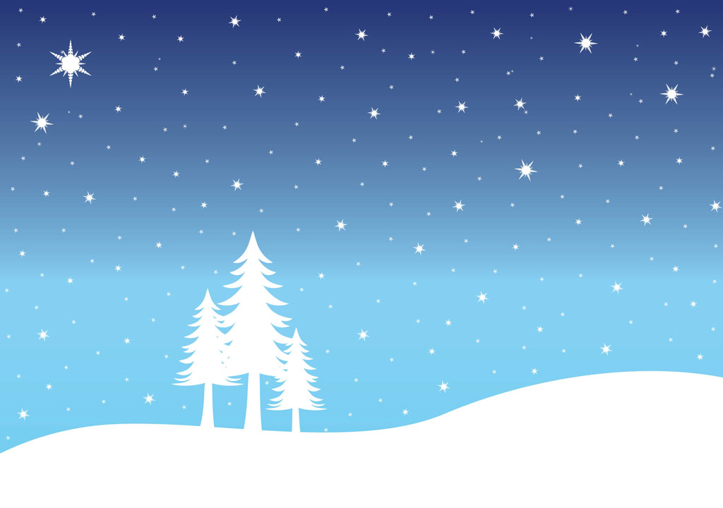 Snow Landscape Vector Art Amp Graphics Freevector Com