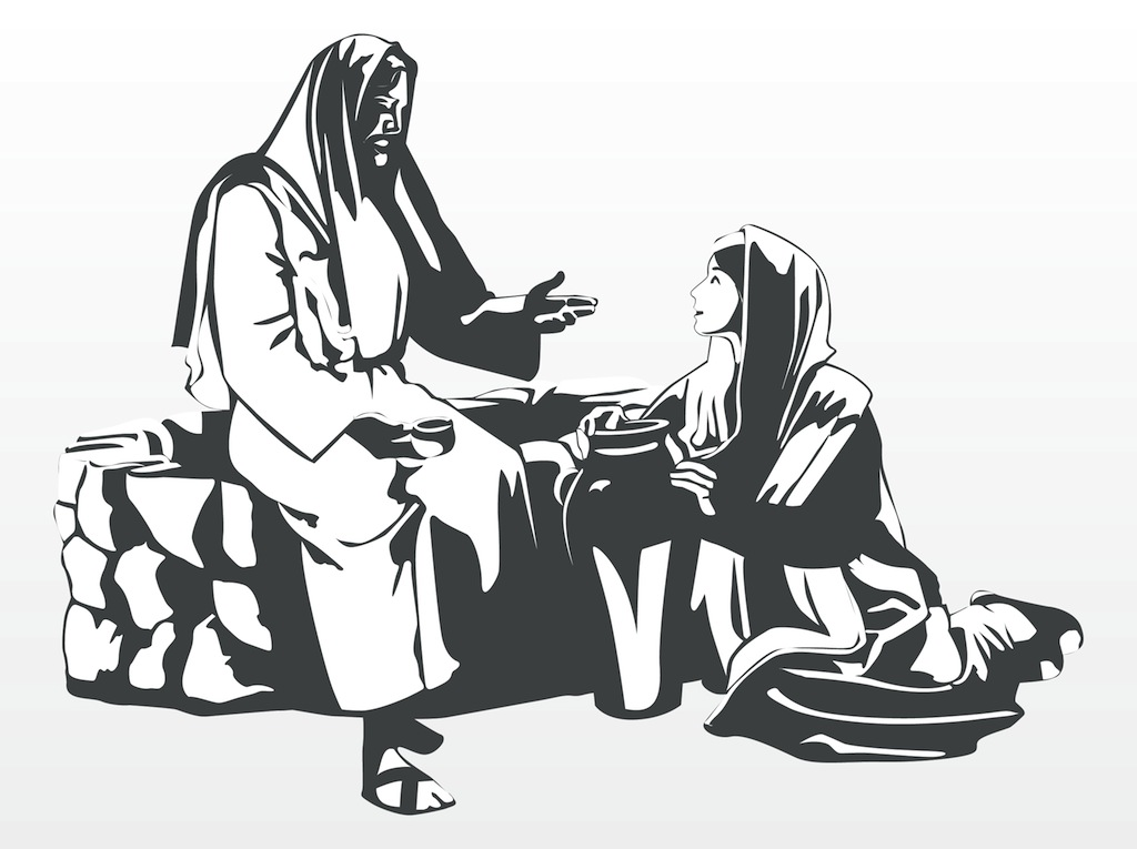clipart jesus and the woman at the well - photo #26