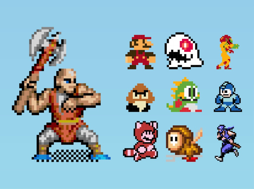 Pics For > Mario 8 Bit Characters