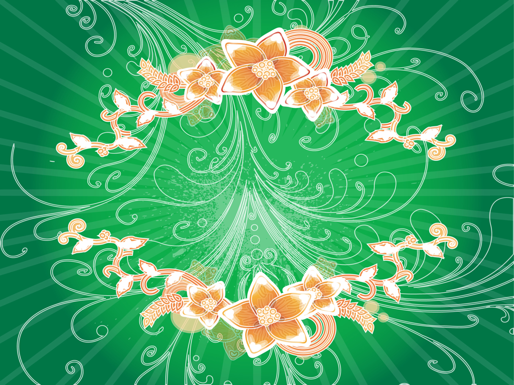 Green floral design vector graphic free vector graphics all free -  Free Vector Contact Us Advertise News Dmca Policy Swirls And Flowers Background