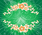 Swirls And Flowers Background