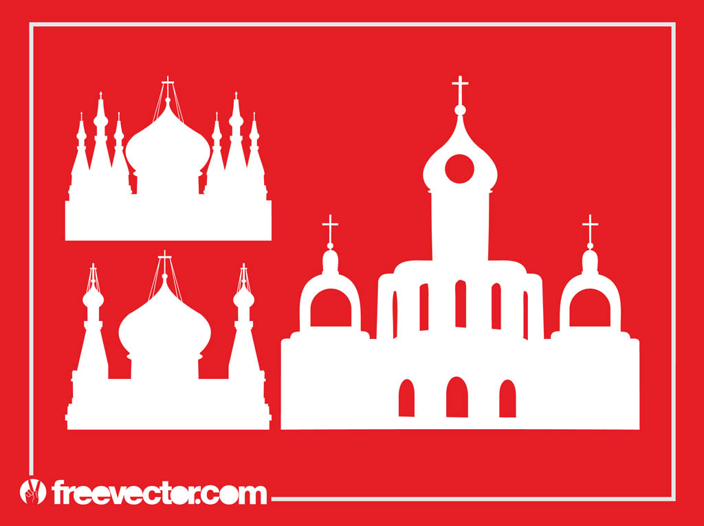 Orthodox Churches Silhouettes