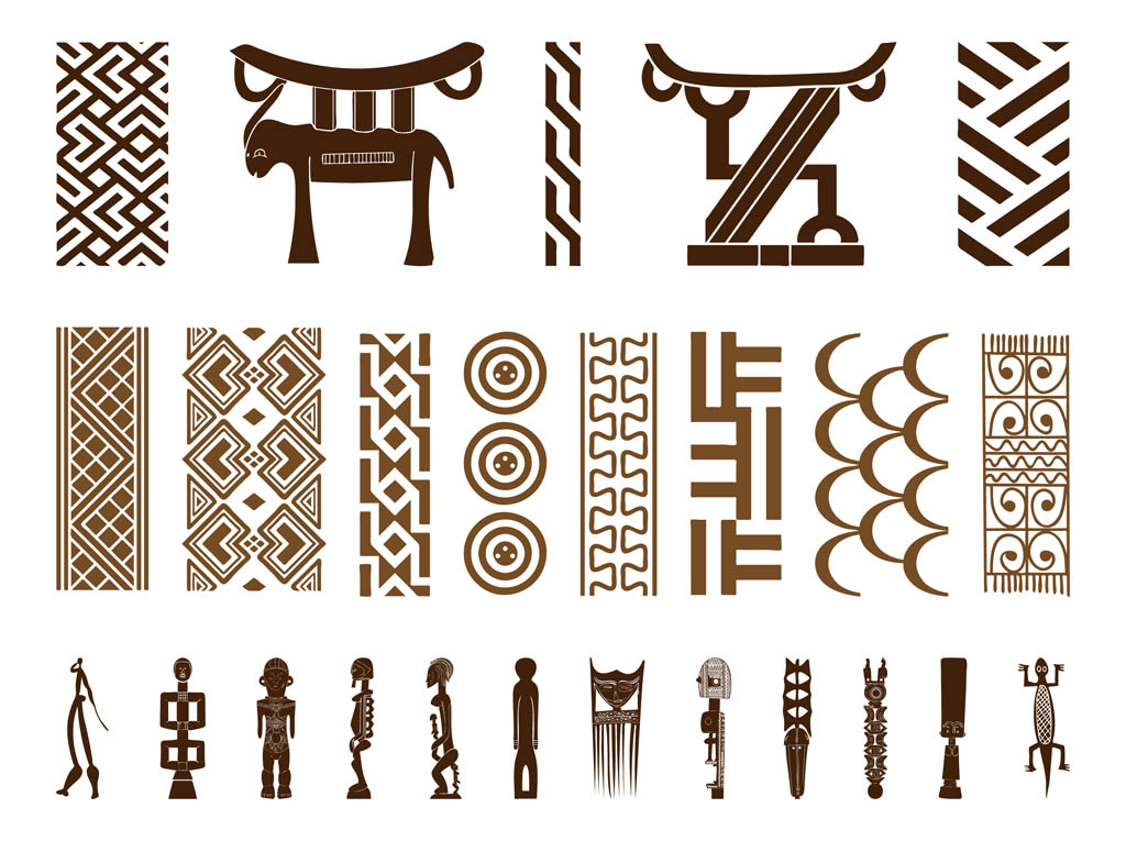 African Symbol Set Vector Art Graphics Freevector