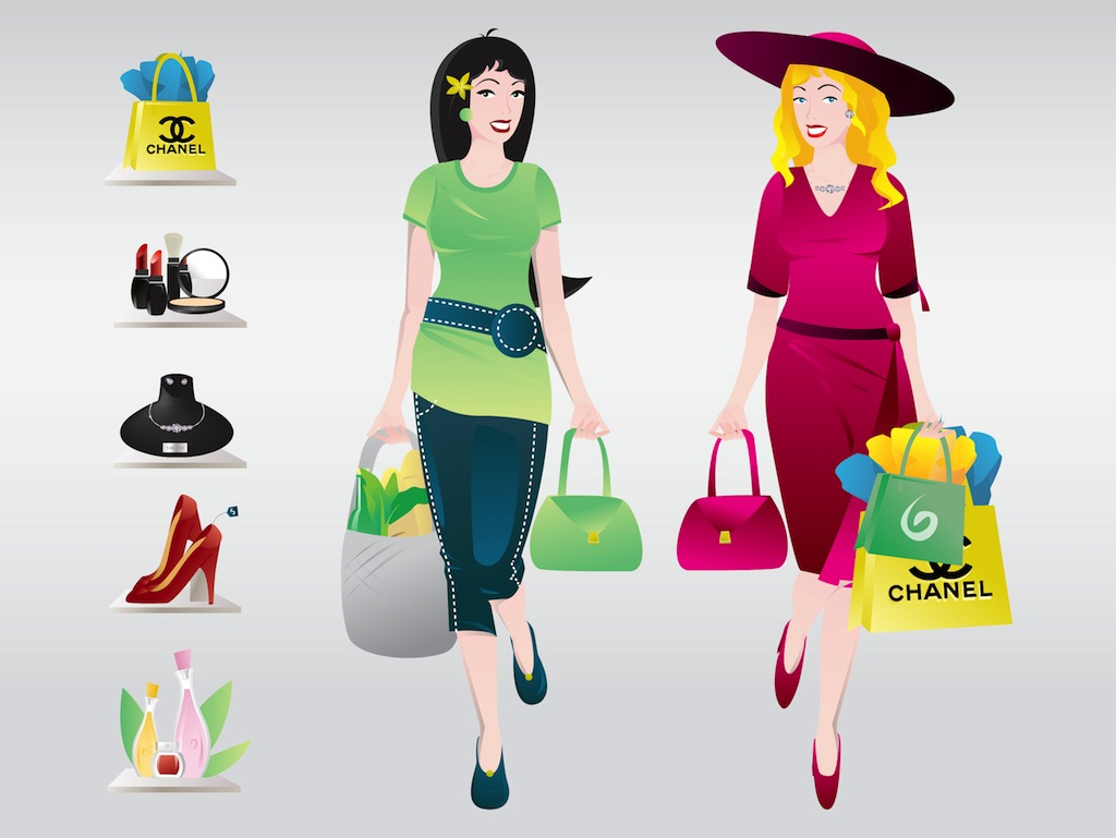 Woman Shopping Clipart Shopping Women