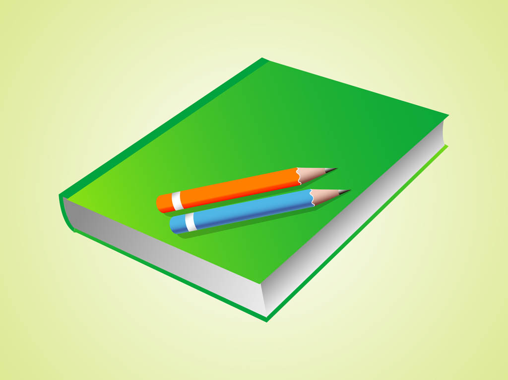Book and pencil vector book and pencils vector art amp graphics