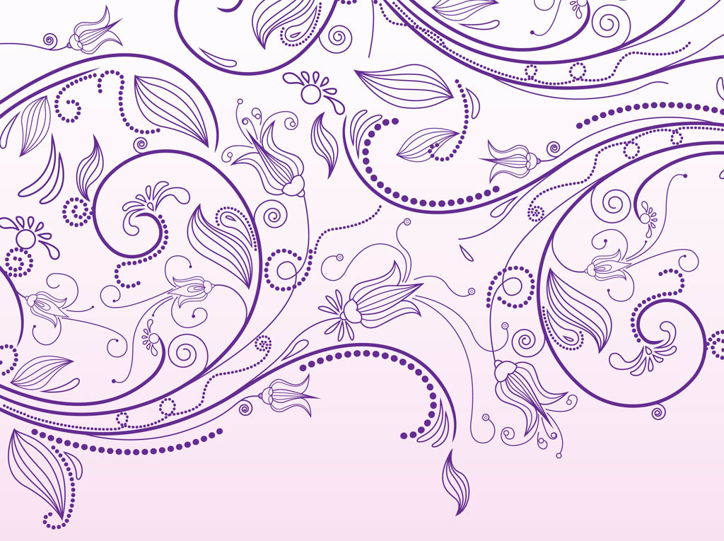 Floral Scrolls Vector Graphics
