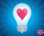 Lightbulb With Heart