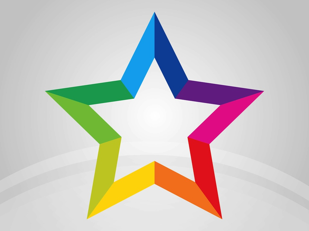Rainbow Star Vector Art Amp Graphics Freevector Com