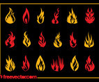 Burning Flames Set