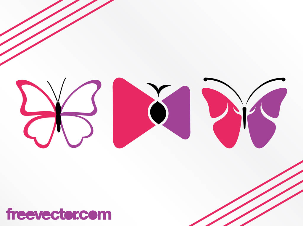 Stylized Butterflies Graphics