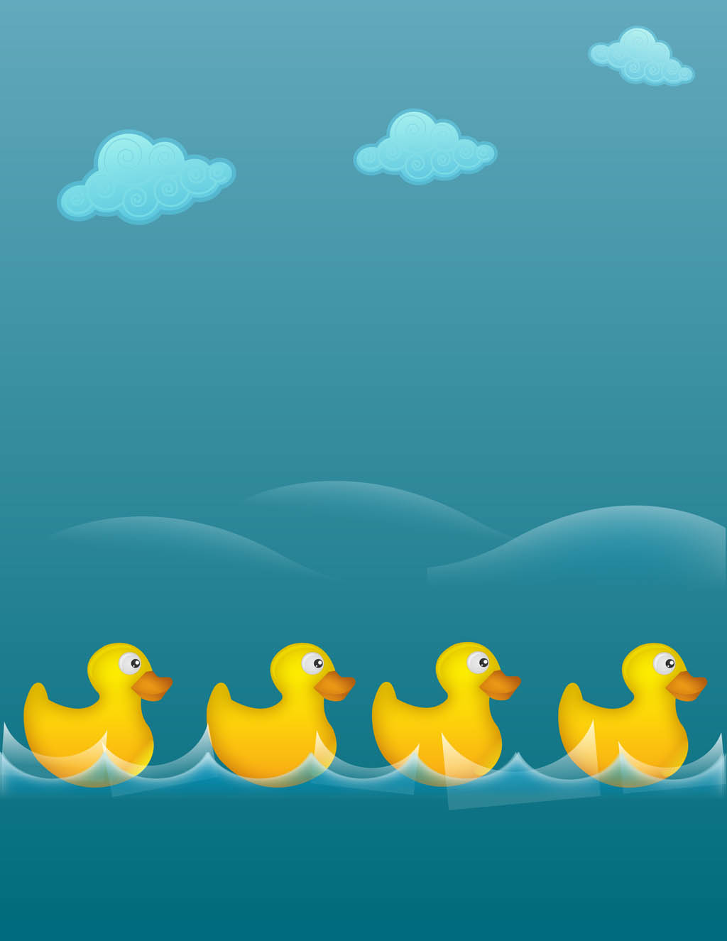 Rubber Ducks Illustration