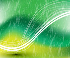 Green Swoosh Vector Background