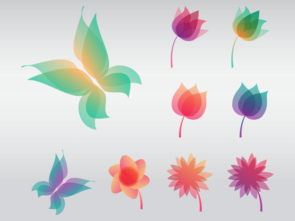 Colorful Flowers Vector Art & Graphics | freevector.com