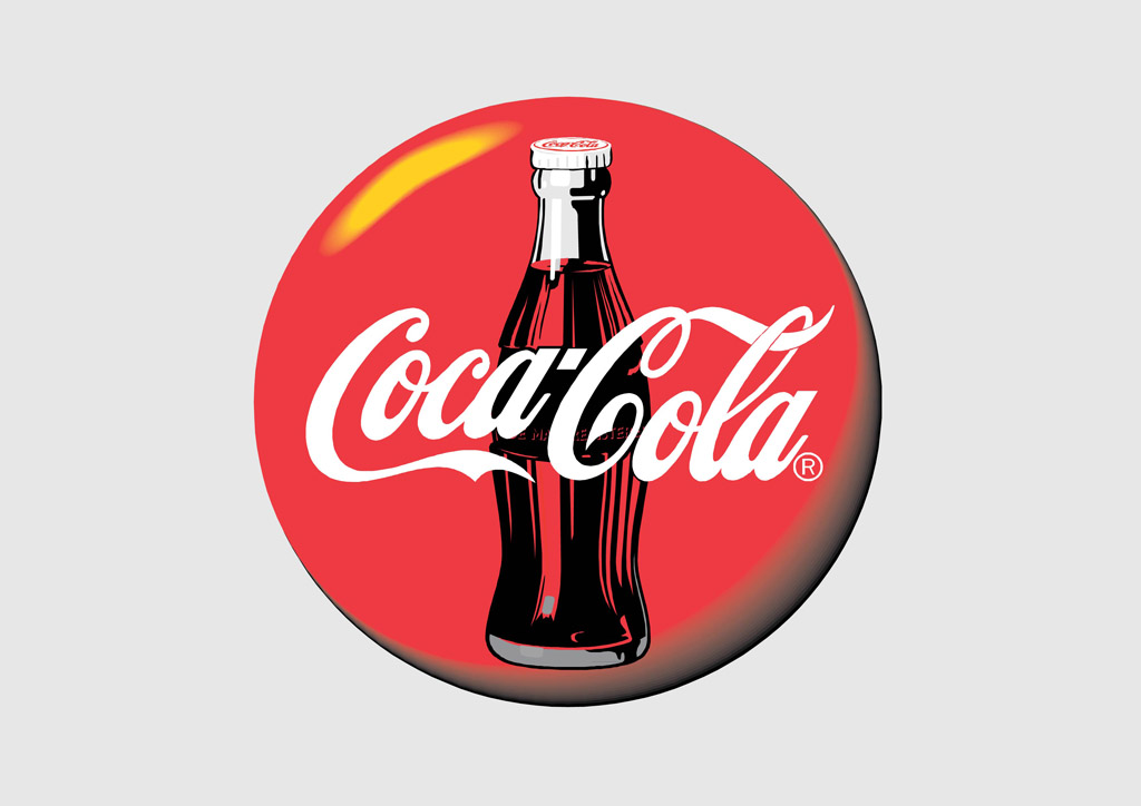 coca cola disc logo vector art amp graphics freevectorcom