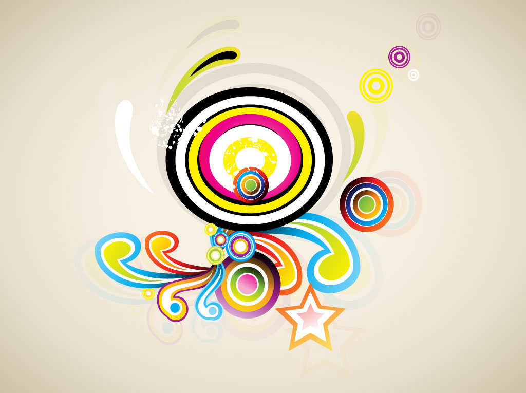 Colorful Retro Swirls Vector Art & Graphics | freevector com