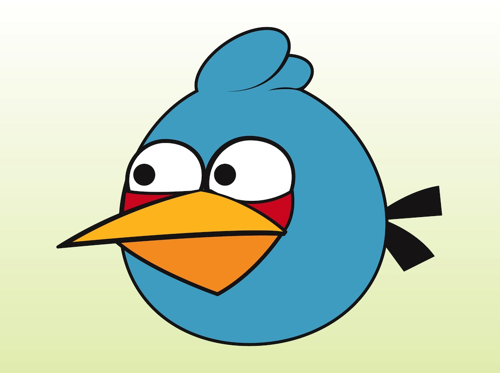 Blue Bird Clipart Black And White Blue Angry Bird Clipart