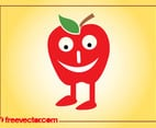 Vector Apple Character