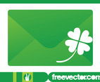 Envelope And Clover Vector