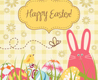 Gingham Easter Background Vector