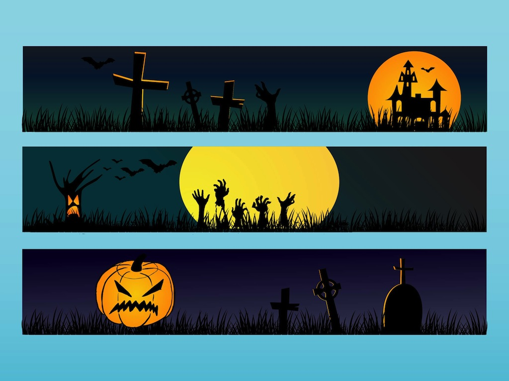 Halloween Banners Vector Art & Graphics | freevector.com
