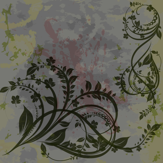 Grungy Floral Vector