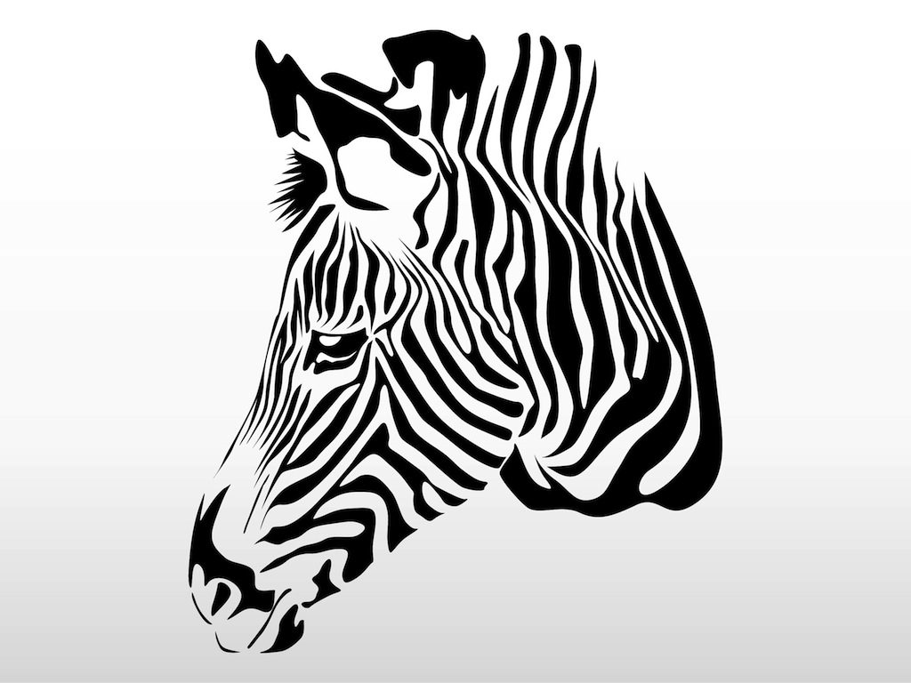 Free coloring pages of zebra stripes - Zebra Head