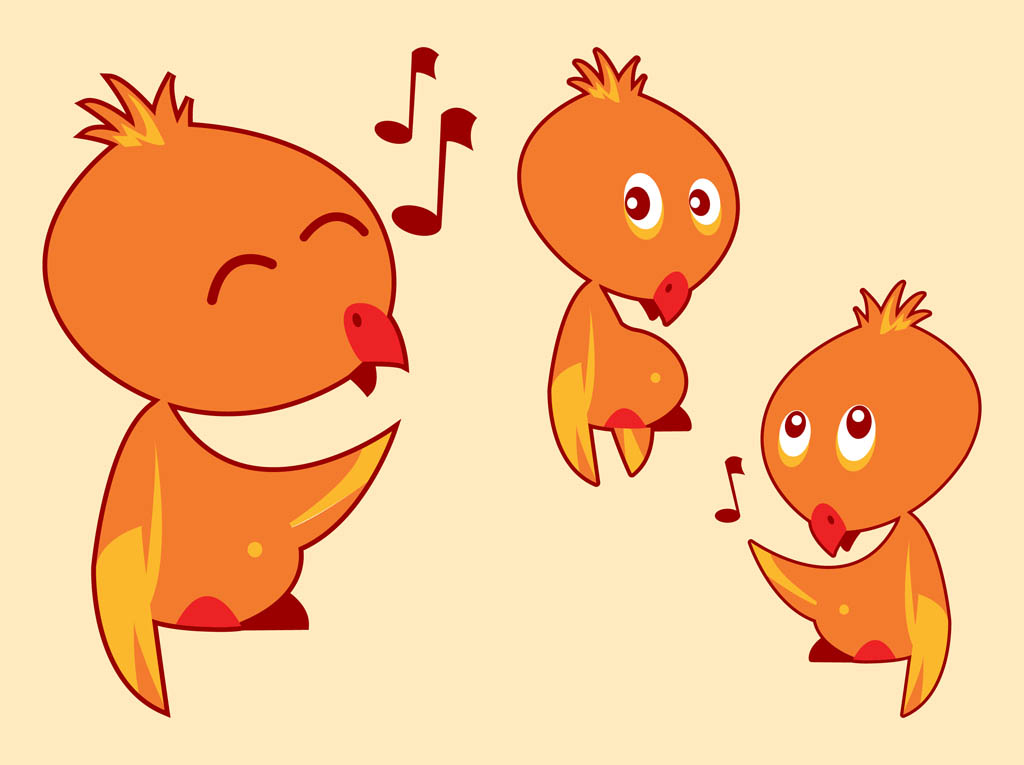 Cartoon Birds Singing
