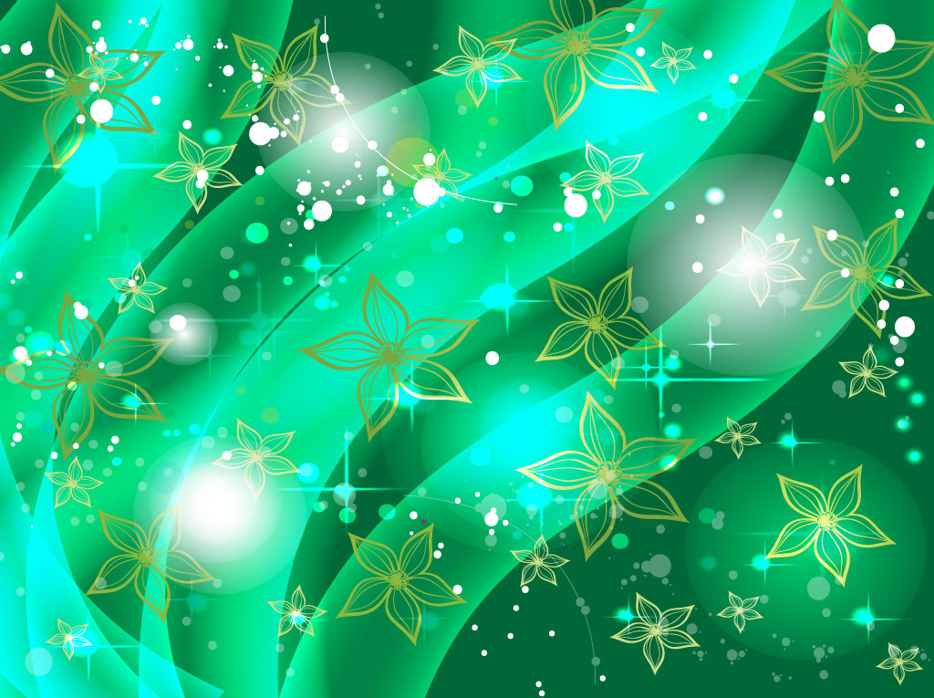 Emerald Floral Background Vector Art Graphics