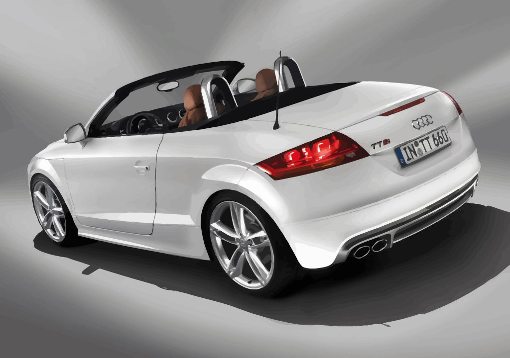 white audi tts cabrio roadster vector art graphics. Black Bedroom Furniture Sets. Home Design Ideas