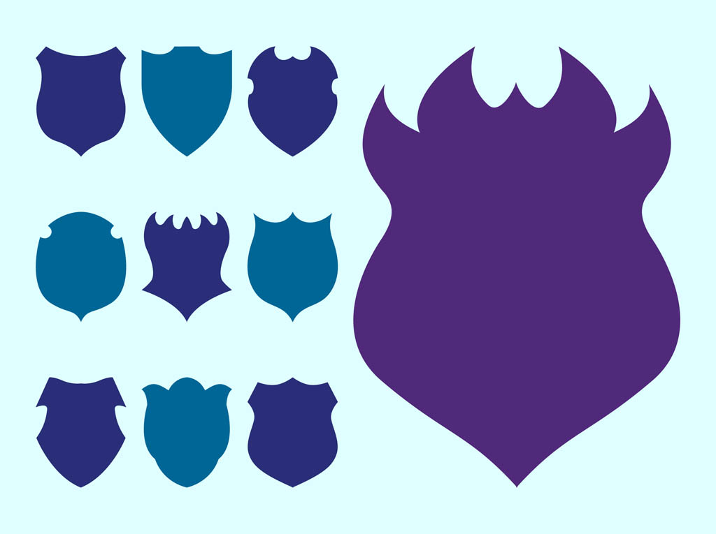 Shield Silhouettes Set