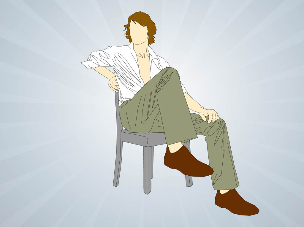 Man Sitting On Chair