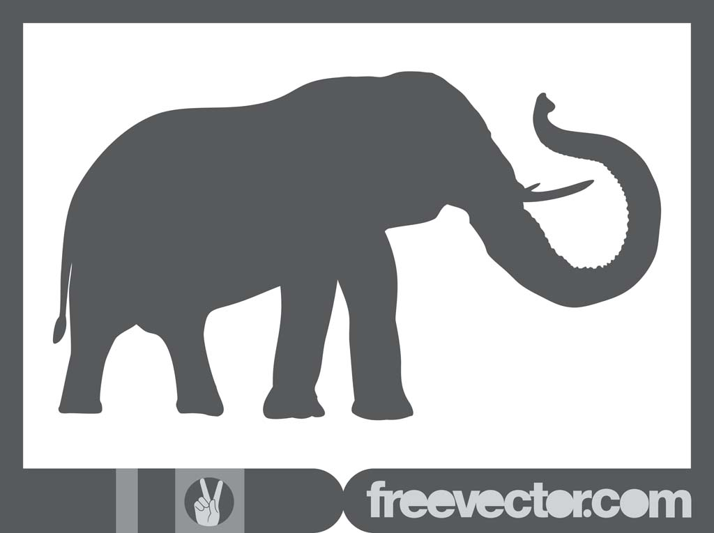 Elephant Vector Silhouette Vector Art & Graphics ...