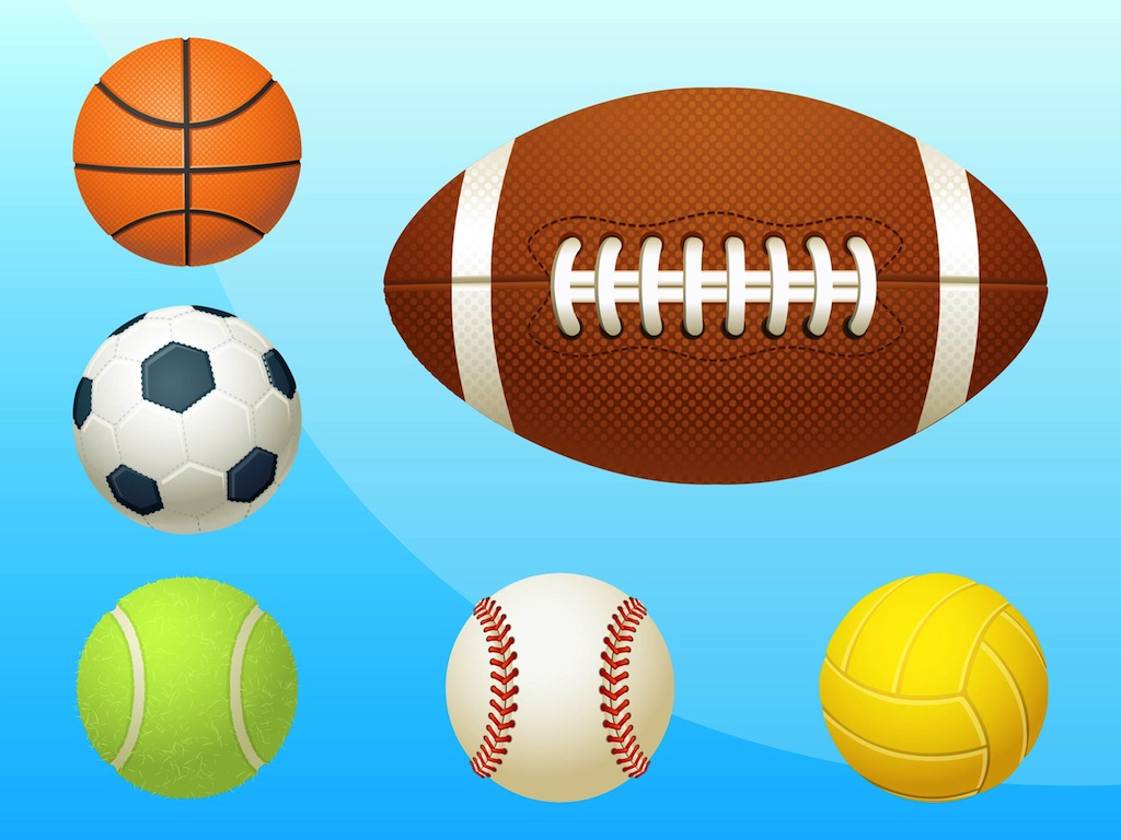 Sports Ball Vector Background Art Free Download: Sports Equipment Vector Art & Graphics