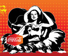 Coca-Cola Girl Vector