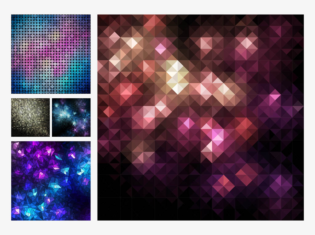 Mosaic Vector Backgrounds