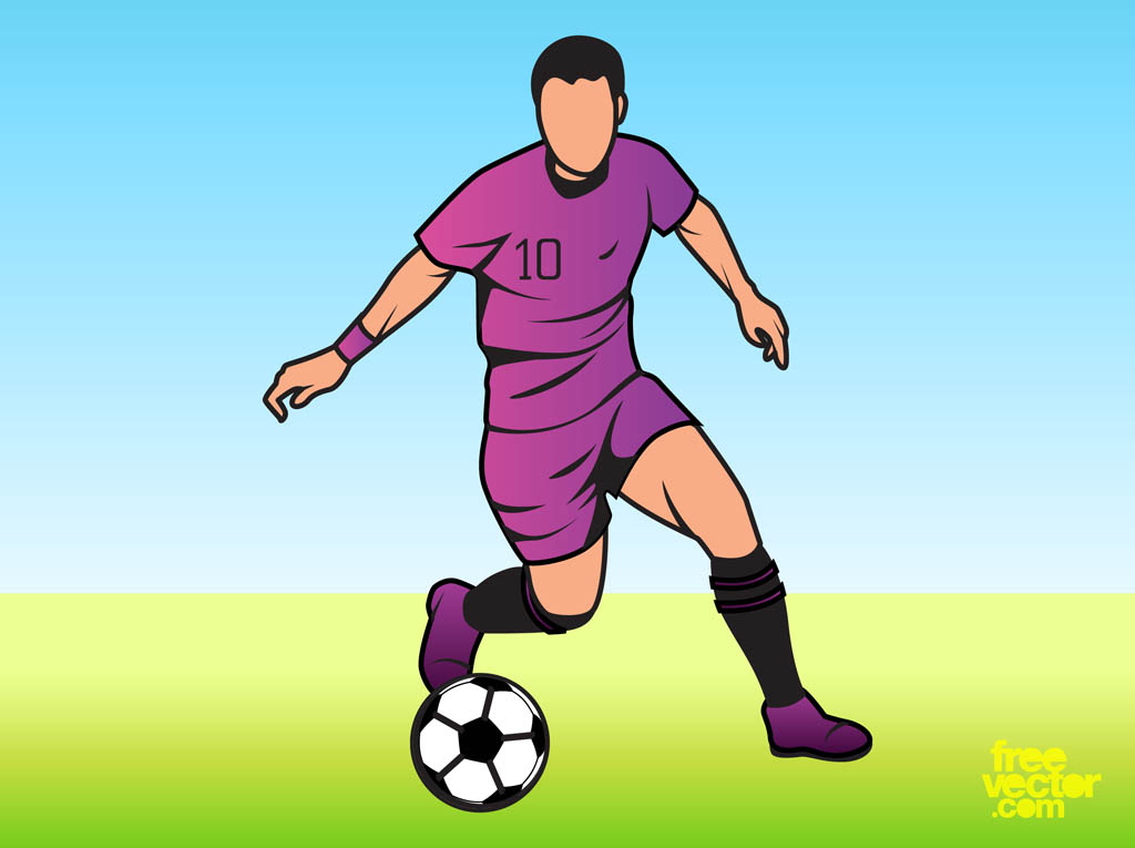 man playing football vector art & graphics | freevector.com  free vector