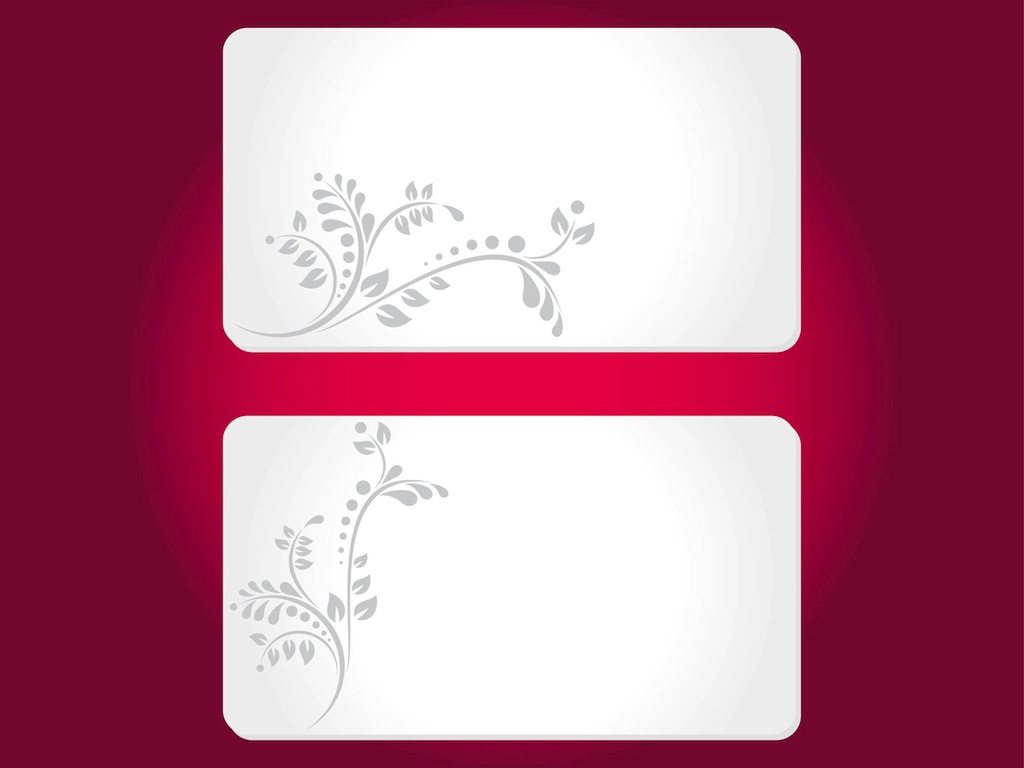 free complimentary cards templates floral cards templates vector art graphics