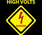 Hi-Volt Danger Sign Vector