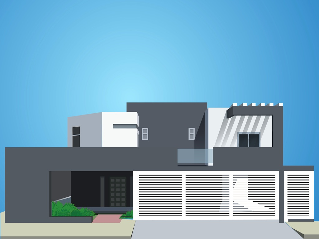 modern house vector art graphics