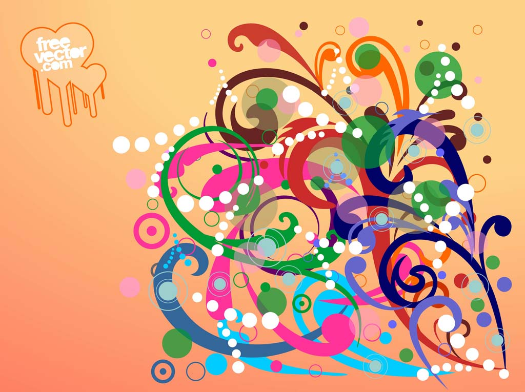 Swirling Flowers Design
