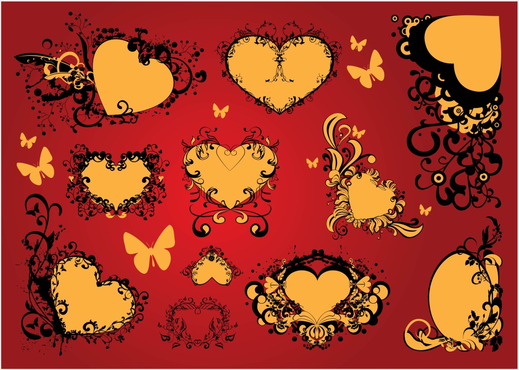 Free Love Heart Vector Art Decoration