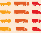 Trucks Silhouettes Set