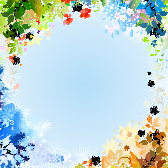 Free Bright Wildflower Background Vector