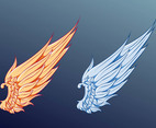 Wings Vector Graphics