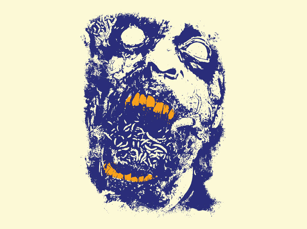 zombie face vector art graphics