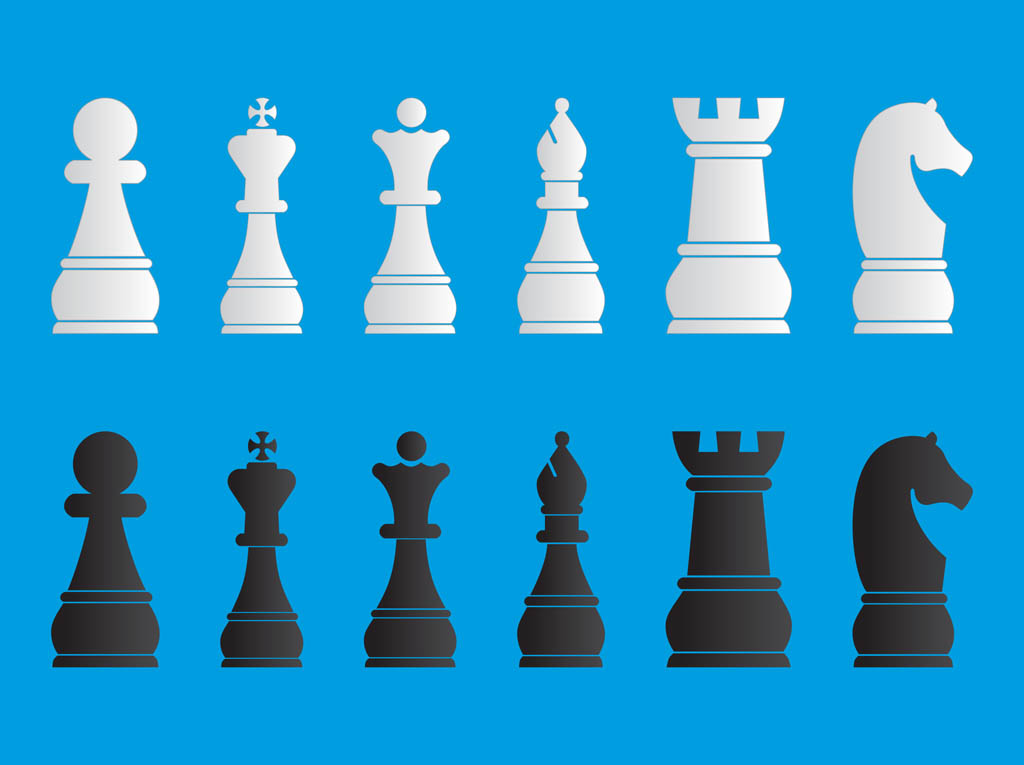 Chess Pieces Set Vector Art & Graphics | freevector.com