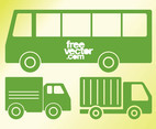 Vehicles Icons Vector