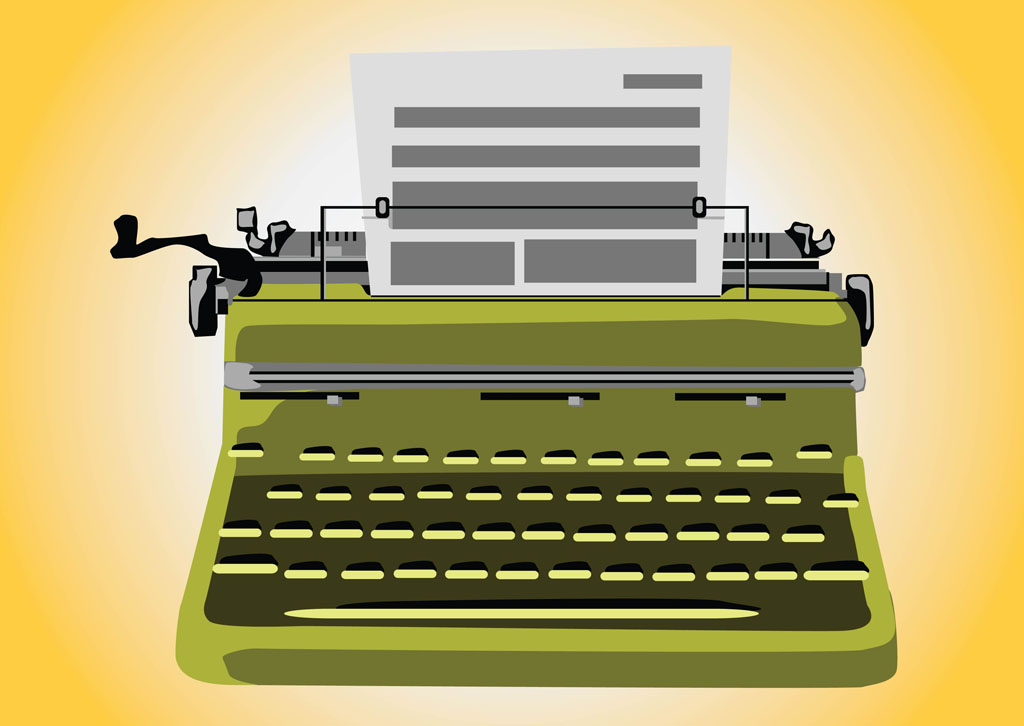 Professional paper writer typewriter